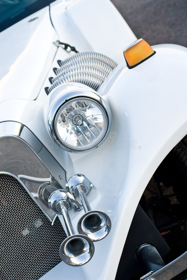 Headlight and honk of limo stock image