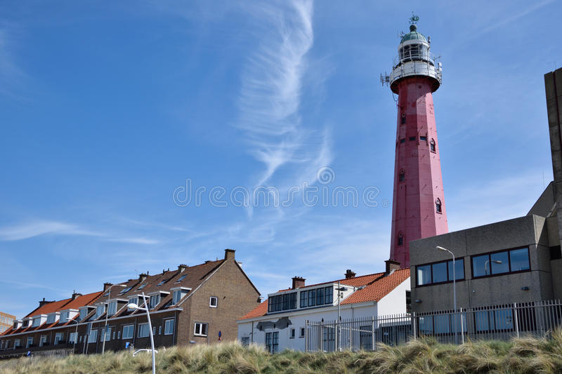 Headlight Lighthouse with nice sky. In holland stock photography