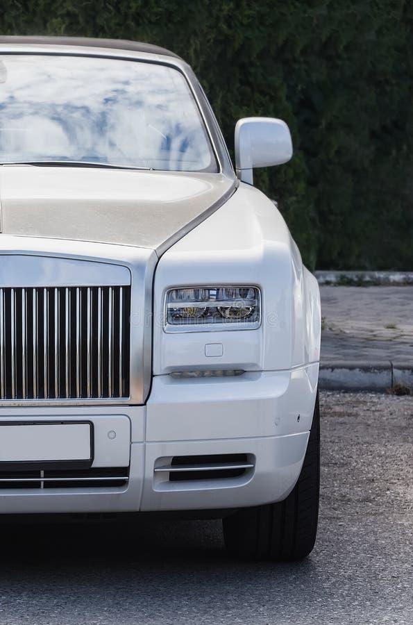 headlight of modern prestigious car stock images