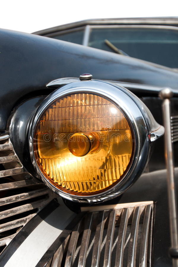 Download Headlight Of Old American Car Stock Photo - Image of path, antique: 12858584