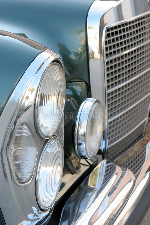 Headlight old car stock photography