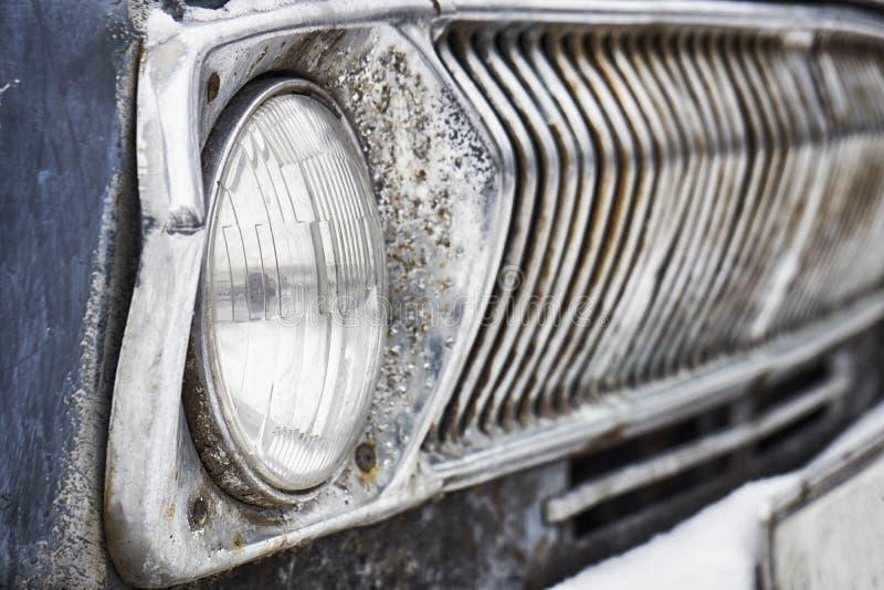 Headlight of old soviet car royalty free stock photo