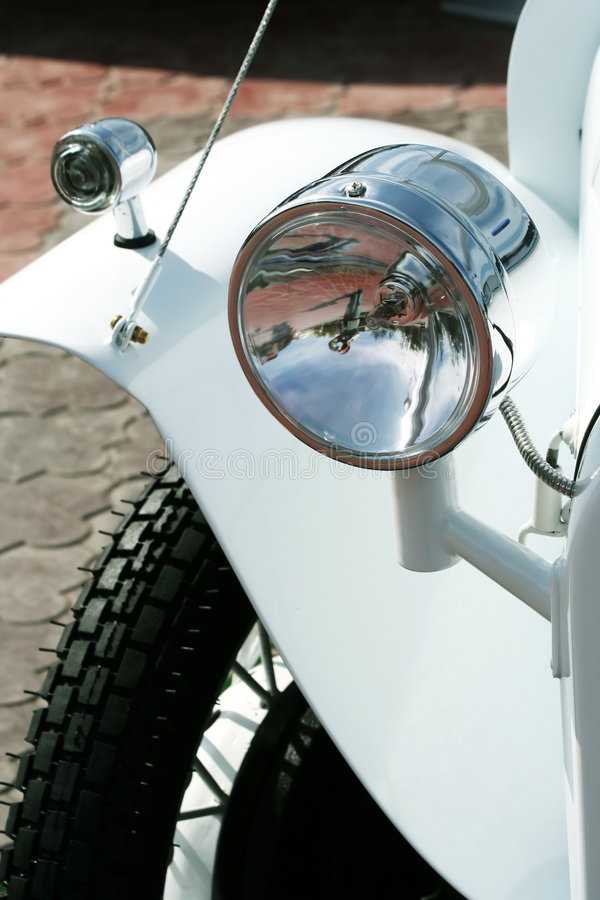 Headlight of a retro car. royalty free stock images
