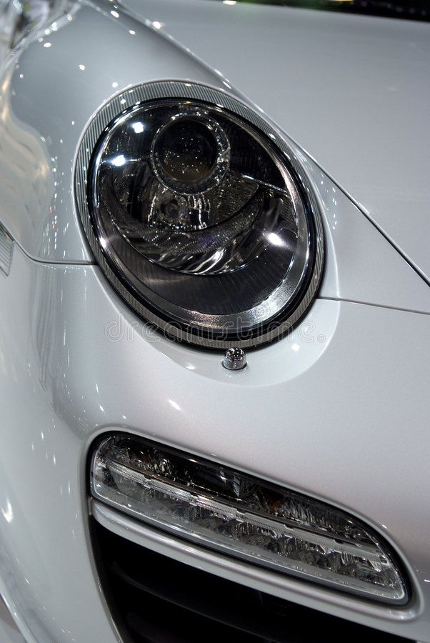Headlight of sports-car royalty free stock photos