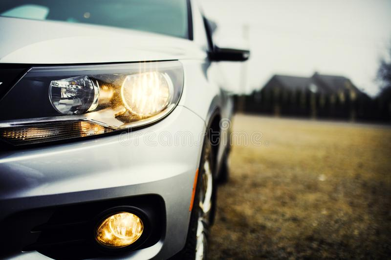 headlights of car royalty free stock image