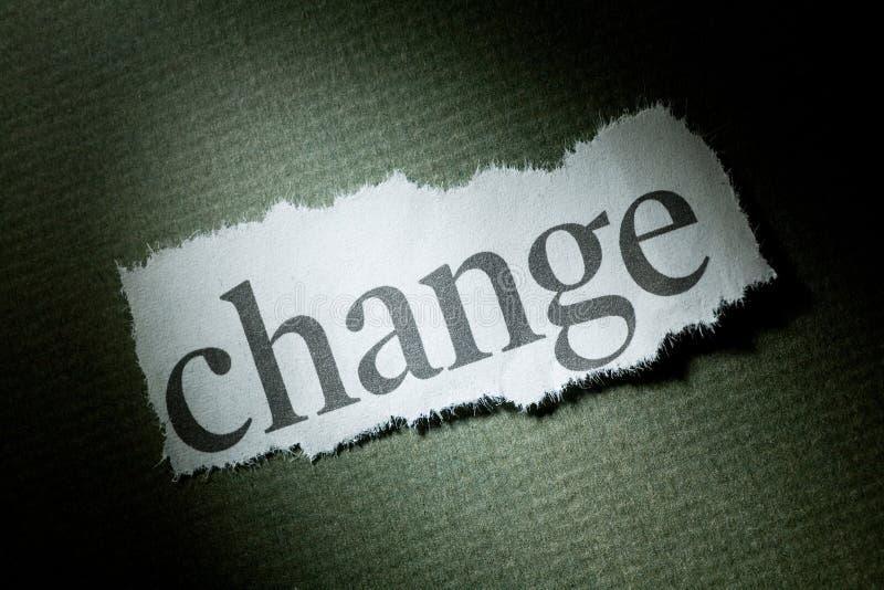 Headline Change. Concept of Change stock photo