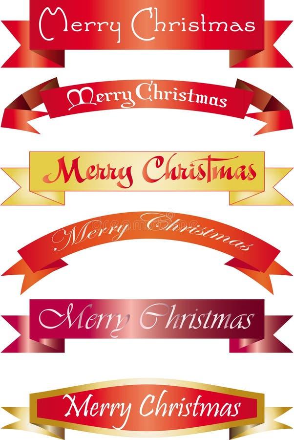 Headline Merry Christmas. Set of headlines with Merry Christmas wish, illustration stock illustration