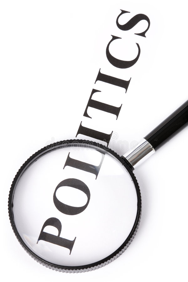 Download Headline Politics And Magnifier Stock Photo - Image: 5379404