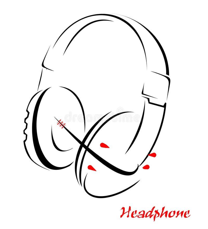 Download Headphone stock vector. Illustration of urban, electronics - 21896522