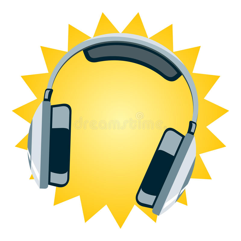 Download Headphone stock illustration. Image of sound, electronic - 25515875
