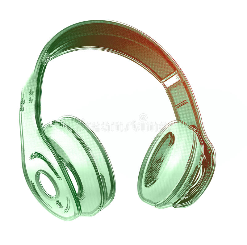 headphone ilustração royalty free