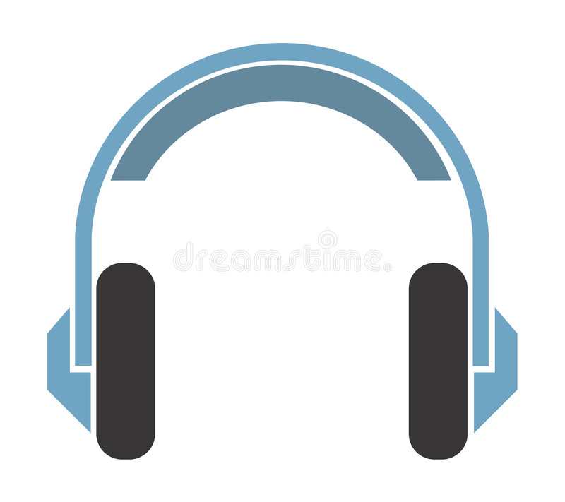 A headphone royalty free stock image