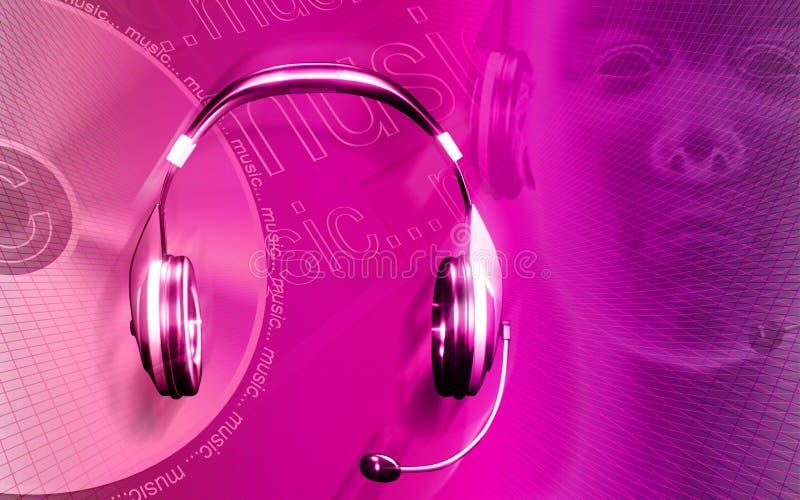 Headphone royalty free illustration