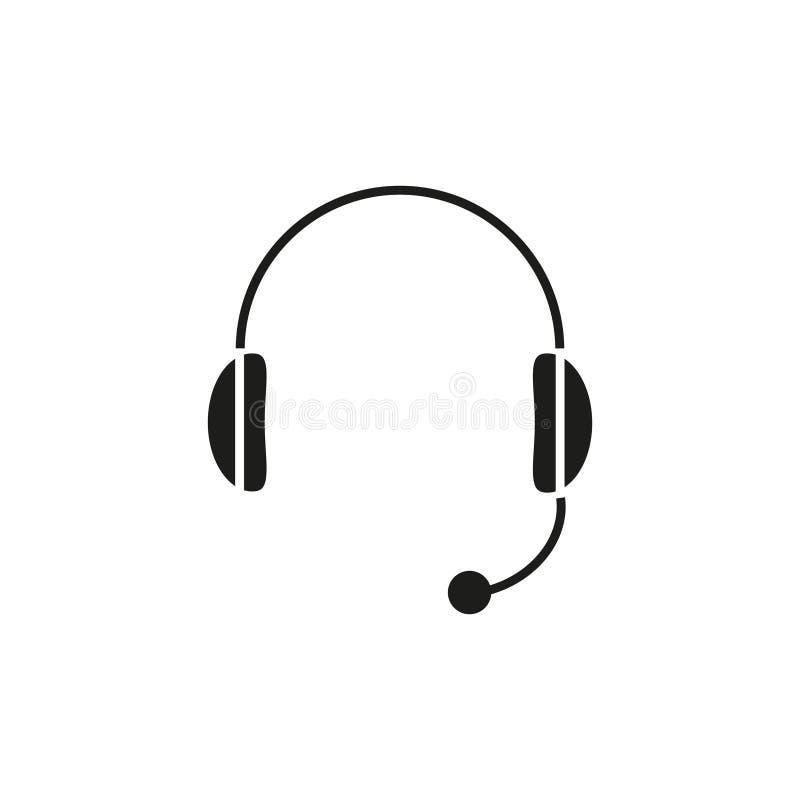 Headphone av symbolen vektor illustrationer