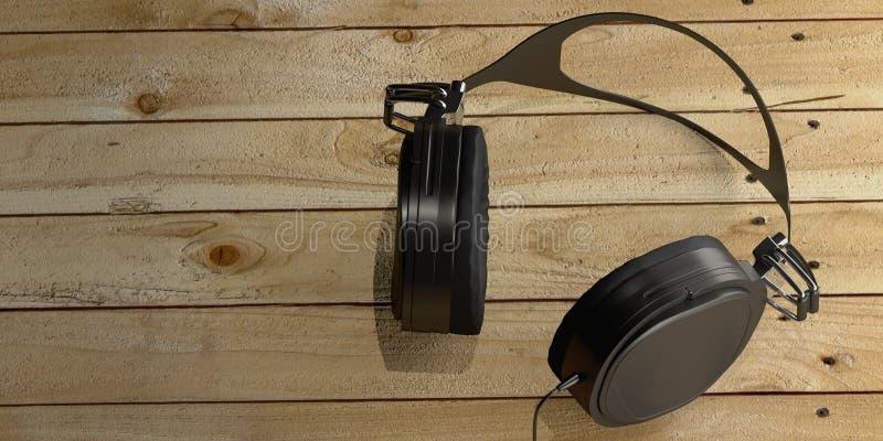 headphone framf?rande 3d royaltyfri illustrationer