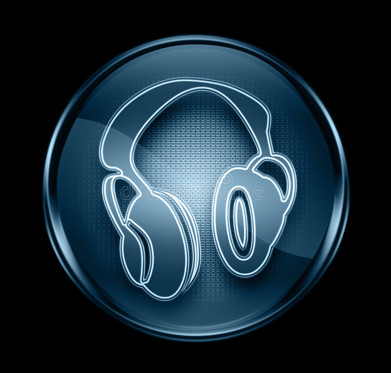 Download Headphone  Icon Dark Blue. Royalty Free Stock Image - Image: 23528146