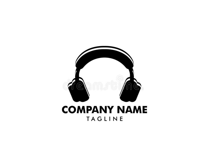 Headphone icon, headphone logo vector illustration