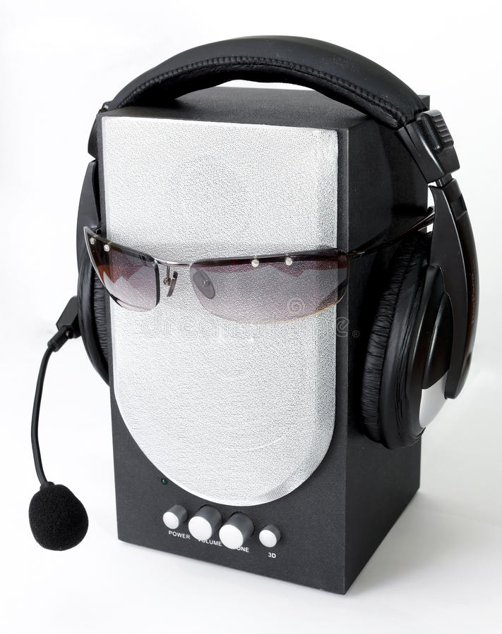 Download Headphone and loudspeaker stock photo. Image of radio - 11916158