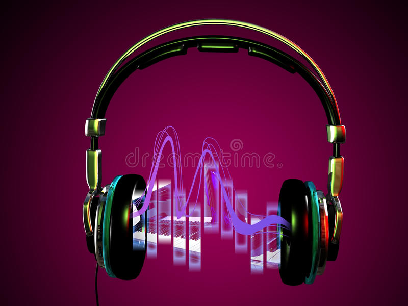 Download Headphone and microphone stock illustration. Illustration of rhythm - 35807041