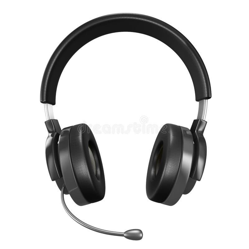 Headphone på vitbakgrund stock illustrationer
