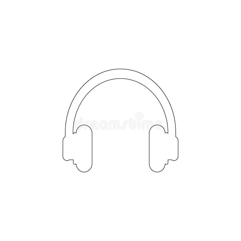 headphone Plan vektorsymbol stock illustrationer