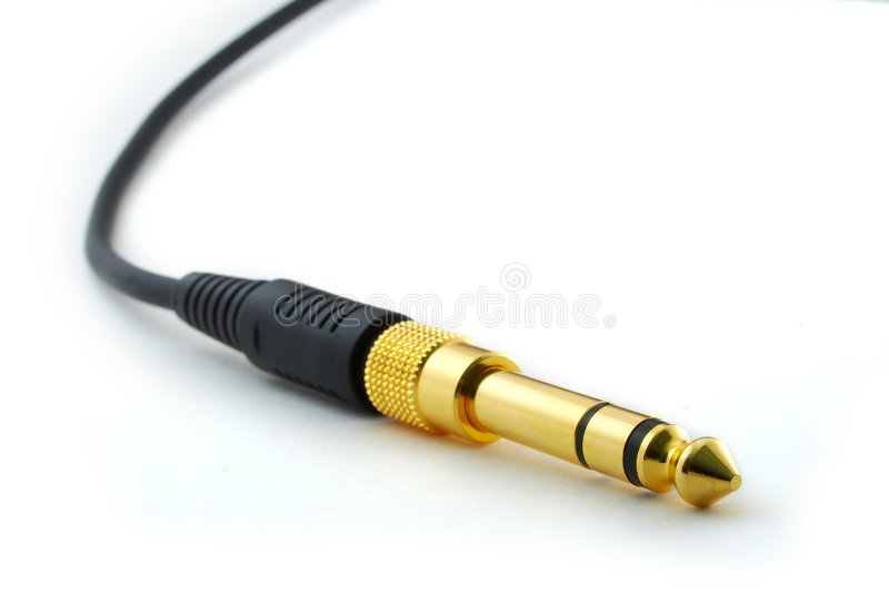 Headphone plug stock photos