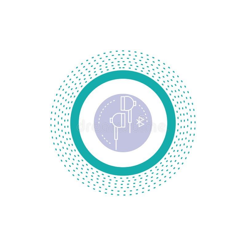 Headphone ?ra, telefon, bluetooth, musiksk?rasymbol Vektor isolerad illustration stock illustrationer