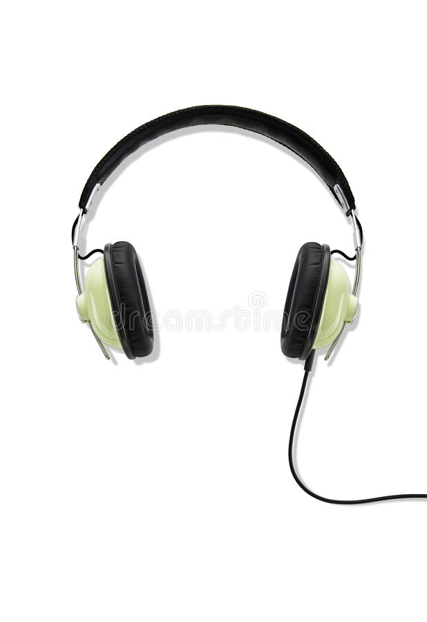 Headphone. Se up of a headphone royalty free stock photography