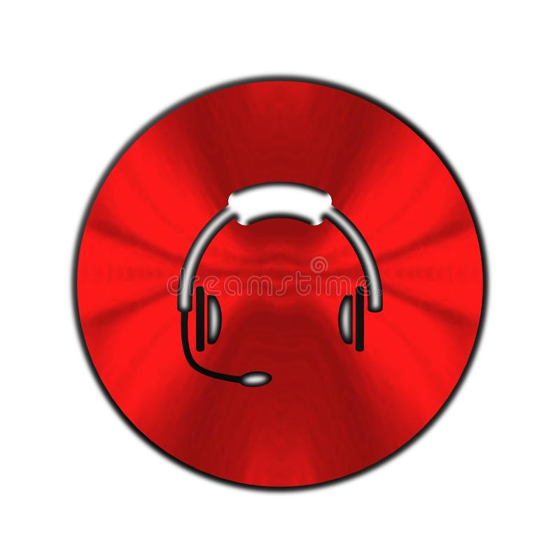 Headphone symbol, tecken, bästa illustration 3D stock illustrationer