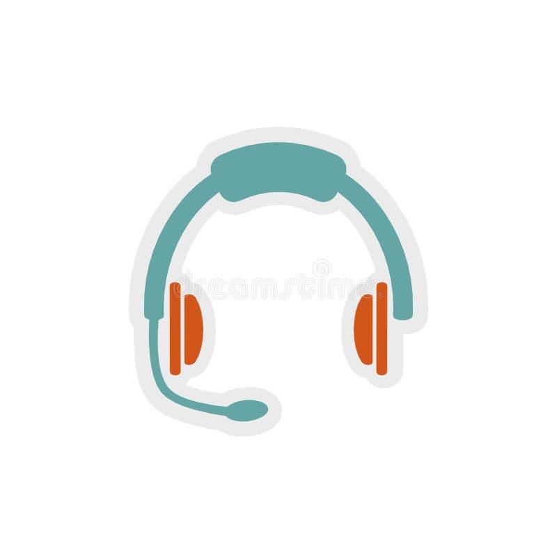 Headphone symbol, tecken, bästa illustration 3D royaltyfri illustrationer