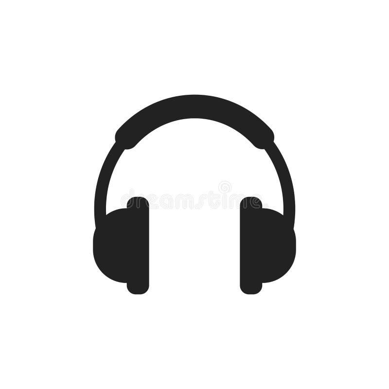 headphone vector icon earphone headset sign illustration stock rh dreamstime com headphones vector free headphone vector art