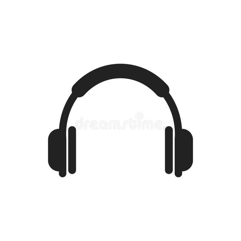 headphone vector icon earphone headset sign illustration stock rh dreamstime com headphone vector image headphones vector free