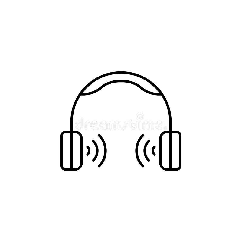 Headphone?versiktssymbol Beståndsdel av livsstilillustrationsymbolen H?gv?rdig kvalitets- grafisk design Tecken och symbolsamling royaltyfri illustrationer