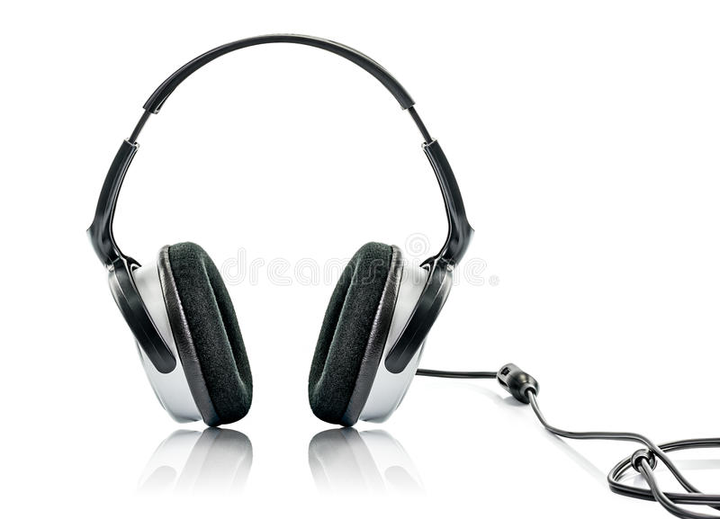 Headphone and Volume. Isolated on White Background royalty free stock photo