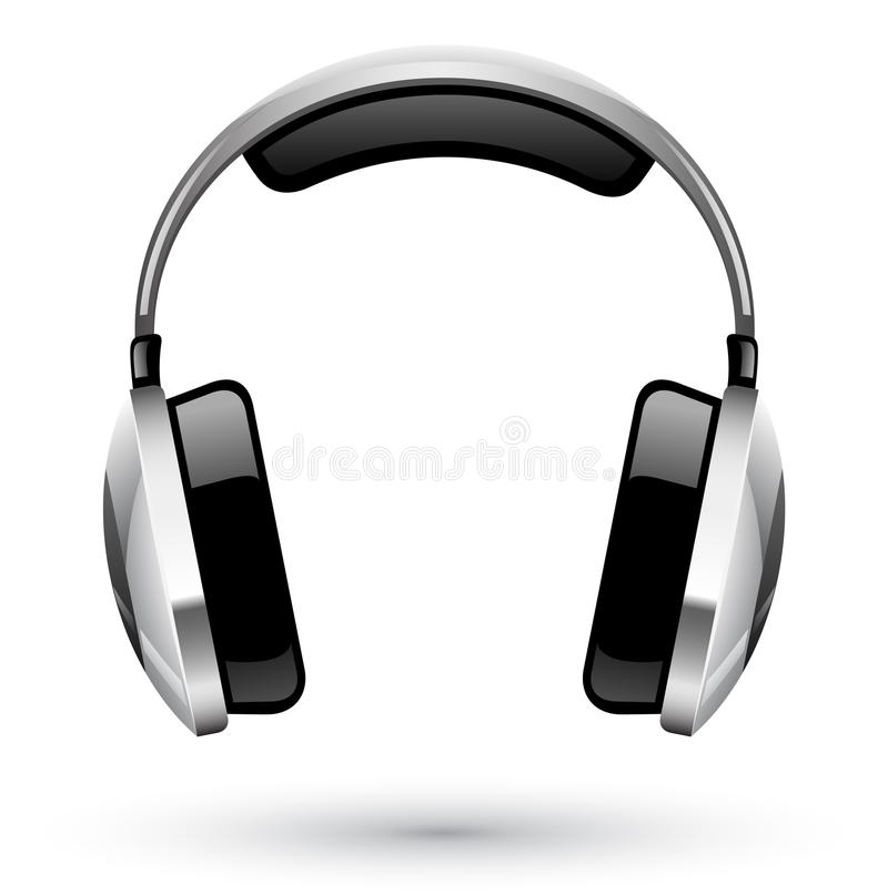 Download Headphones stock vector. Illustration of bass, black - 22763200