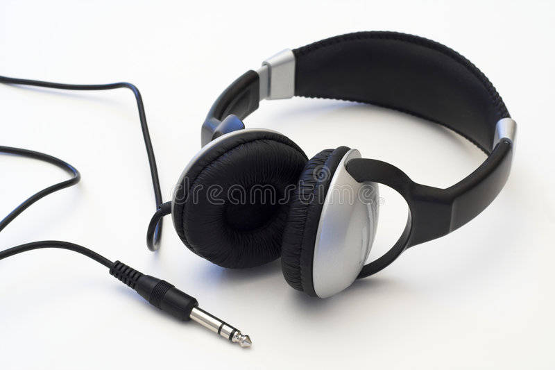Headphones. A pair of headphones royalty free stock image