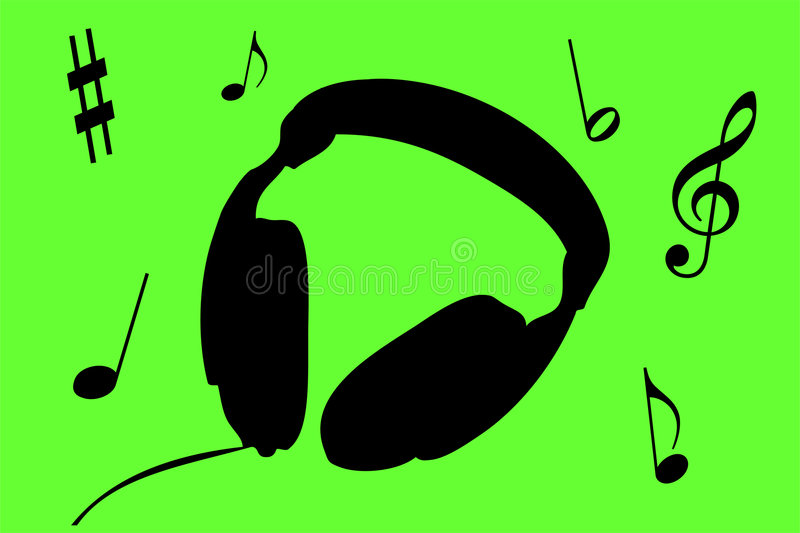 Download Headphones stock illustration. Image of silence, tunes - 509407