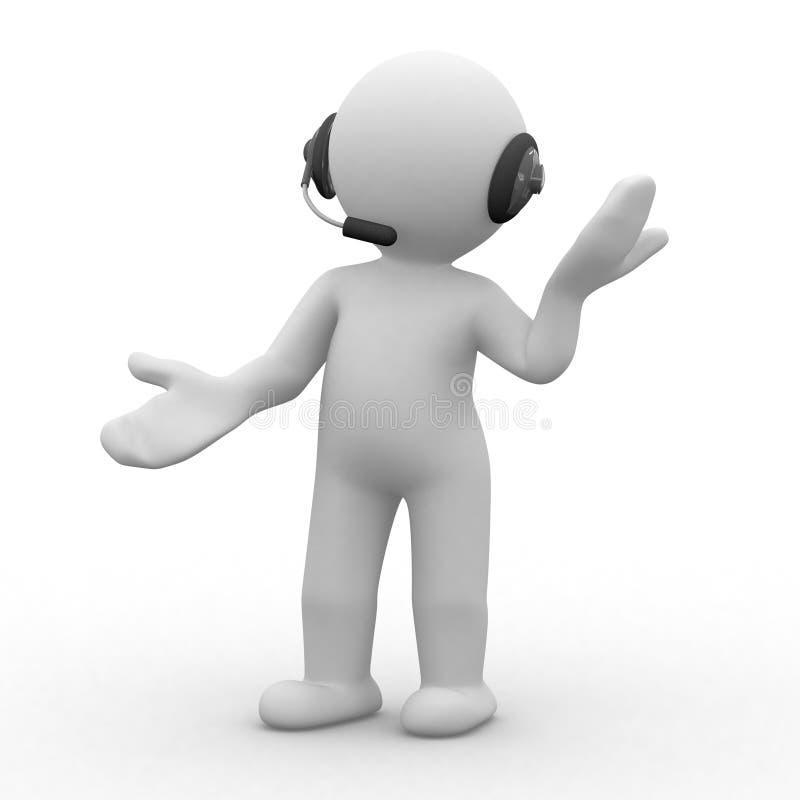 Download Headphones stock illustration. Image of business, people - 6906257