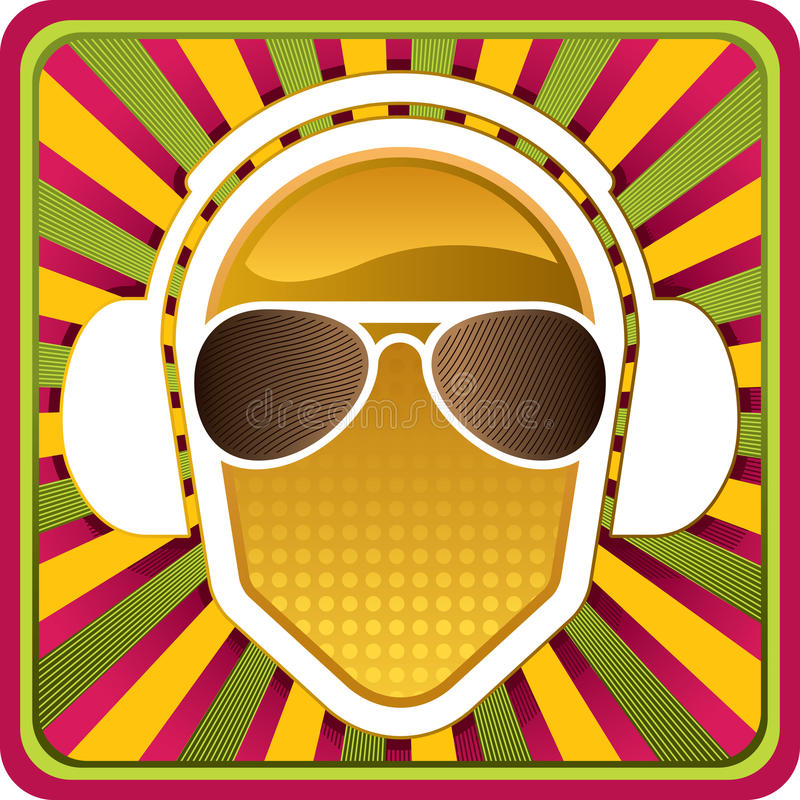 Download Headphones With Abstract Background Stock Vector - Image: 10251394