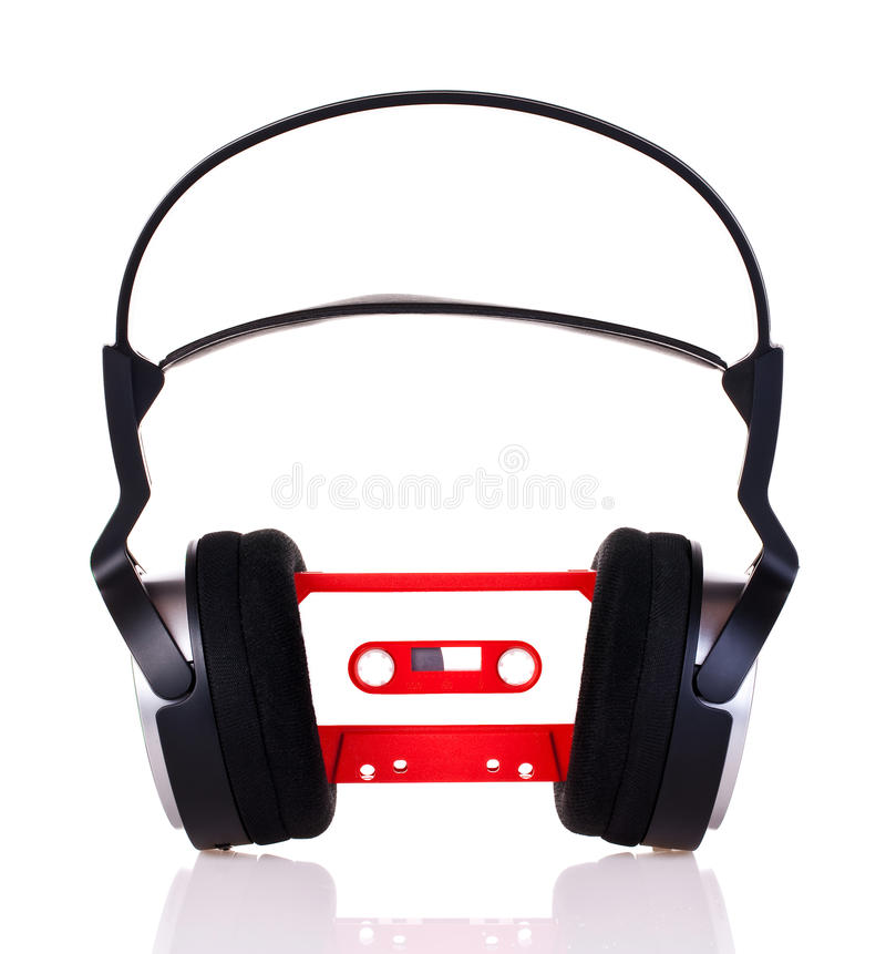 Download Headphones On A Audio Cassette Stock Image - Image: 16746831