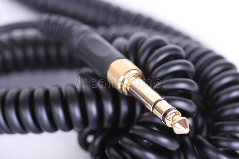 Headphones cable stock photography