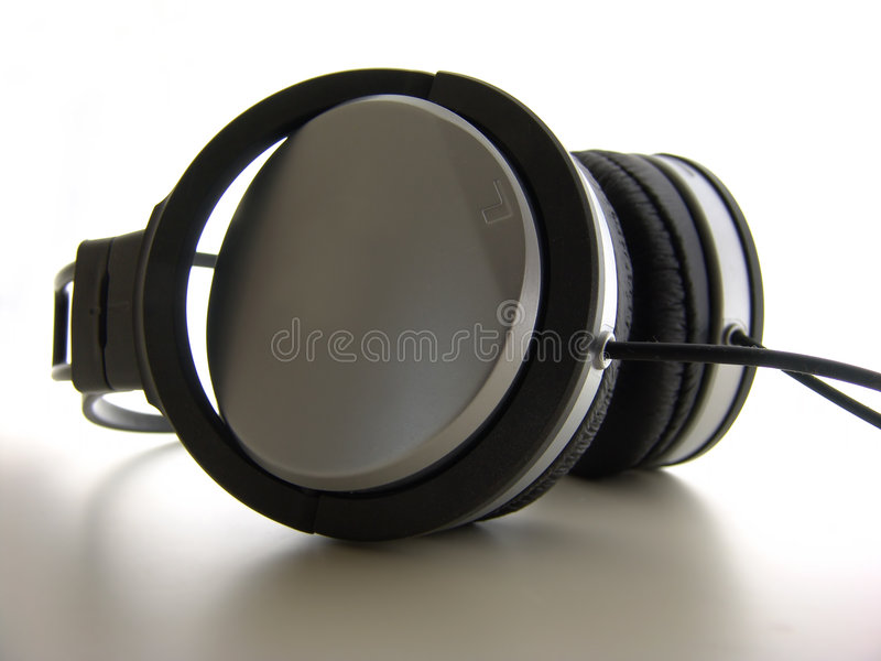 Headphones Closeup stock photography