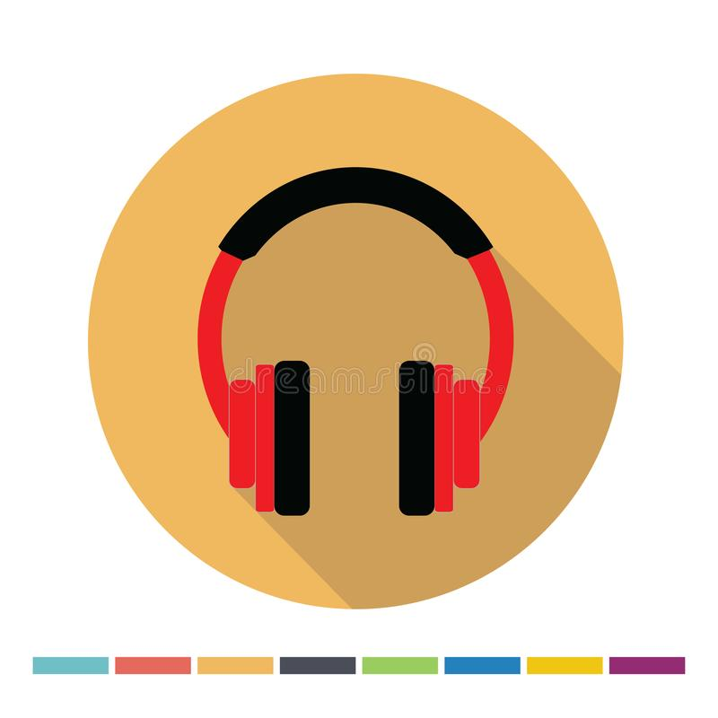 Headphones flat icon royalty free illustration