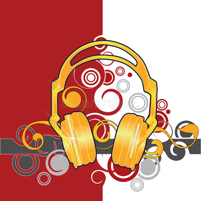 Headphones illustration stock illustration