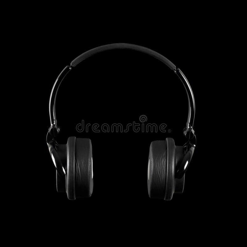 Download Headphones Isolated On A Black Background Stock Image - Image: 22812737