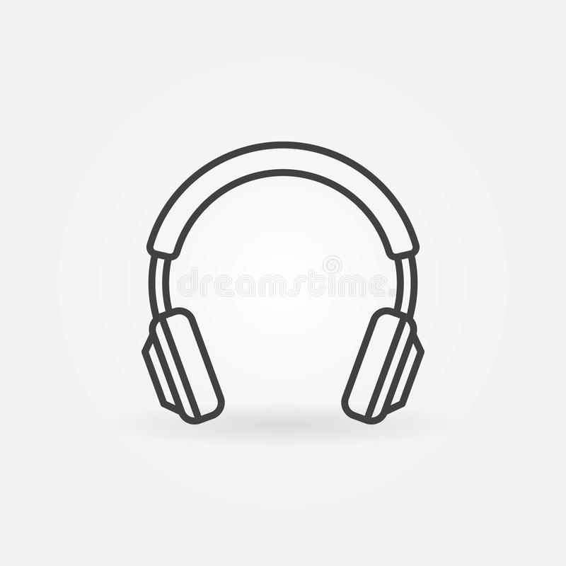 Free Headphones Isolated Line Icon. Vector Headphone Concept Sign Royalty Free Stock Images - 122877439