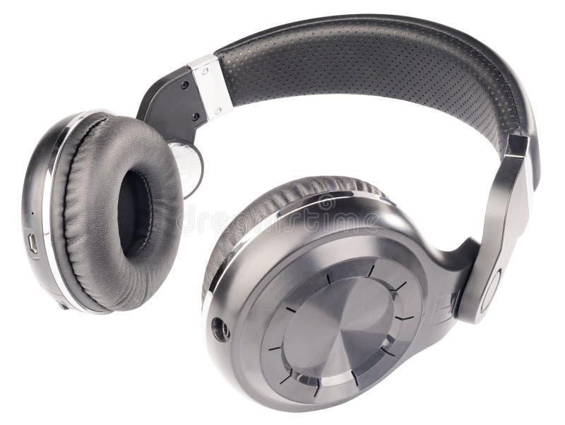 Headphones isolated on white stock image