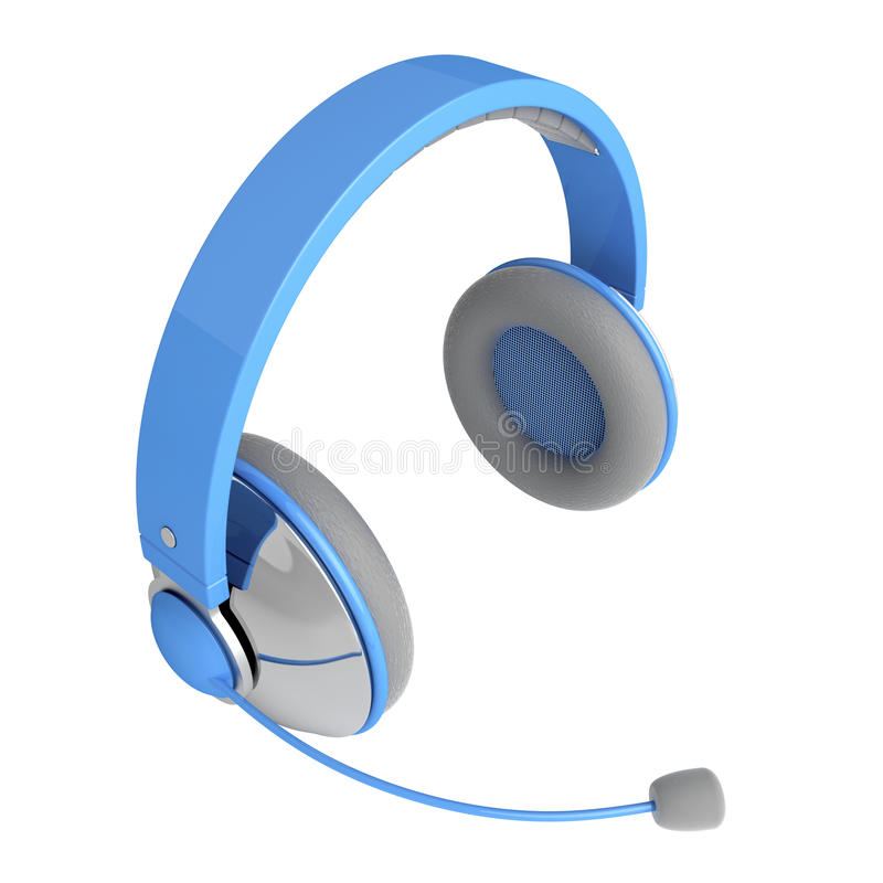 Headphones With Mic Royalty Free Stock Images