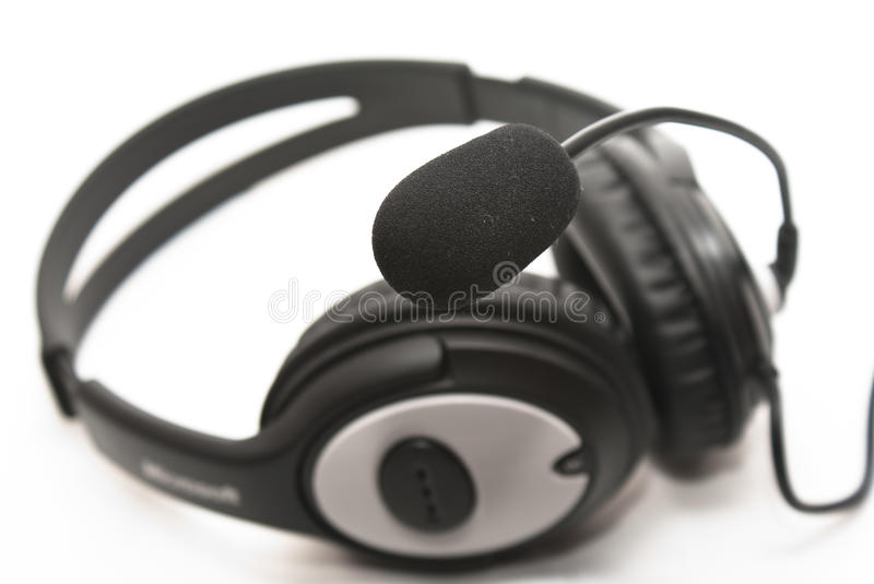 Headphones With A Microphone Stock Photography