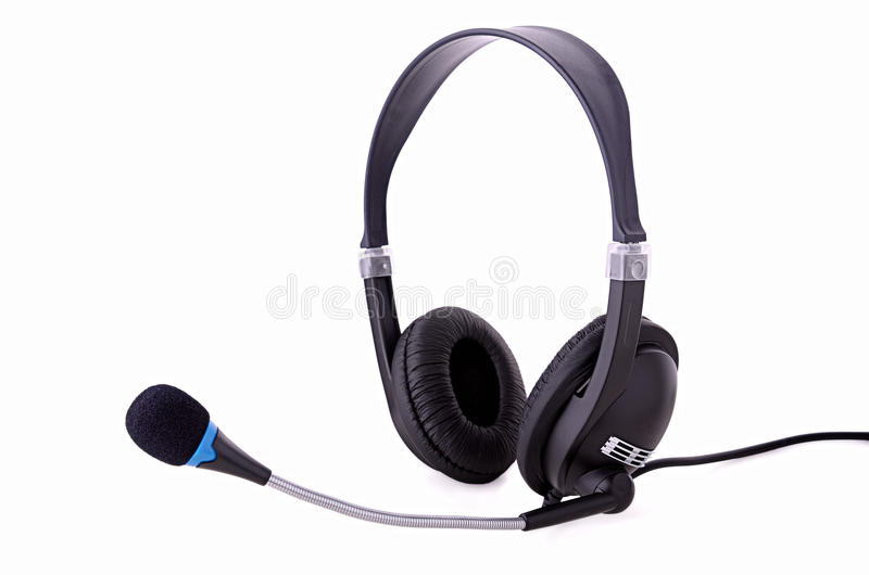 Download Headphones With Microphone Royalty Free Stock Photography - Image: 26758997